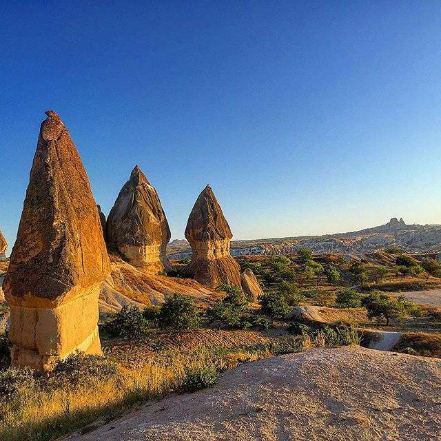 More of #capadokya #Cappadocia #natural #formations #turkiye #turkey at the #sunset