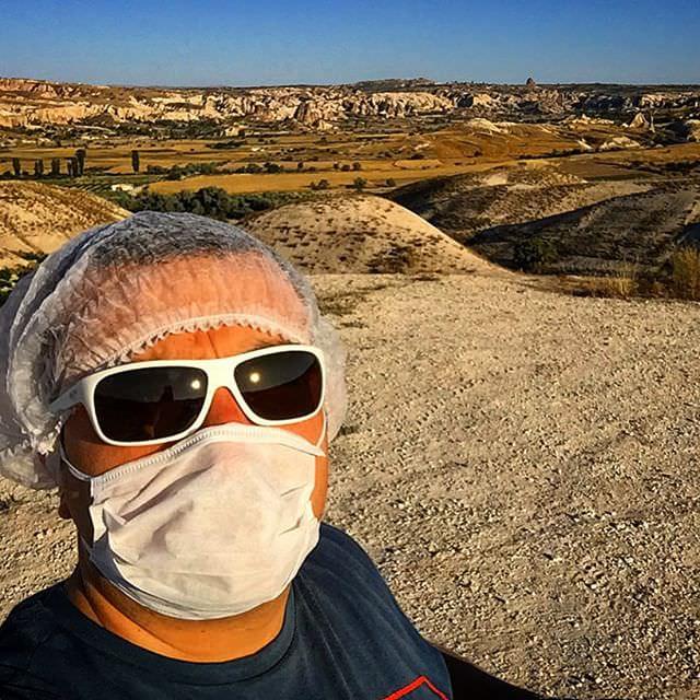 #protection against #dust was a must before the #atv #ride in #capadokya #Cappadocia #turkey #turkiye