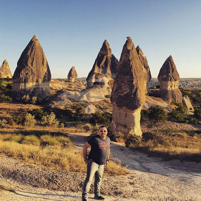Me there at #Cappadocia #capadokya #natural #formations #turkiye #turkey #breathtaking #view